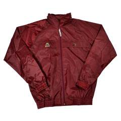 Henselite Rainwear Jacket - Unlined Elastic Burgundy