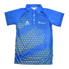 Henselite Mens Eureka Polo Blue/Gold