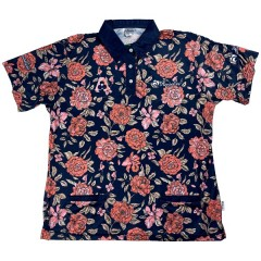 Henselite Ladies Posy Polo - Navy Floral