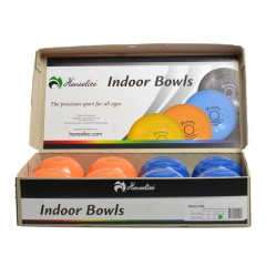 "Henselite Indoor Carpet Bowls - 4"" Orange & Blue"
