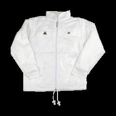 Henselite Rainwear: Jacket - Lined Drawstring White